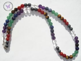 Classical Chakra Necklace with Silver Clasp